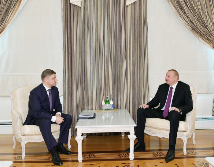 President Ilham Aliyev receives Russian Railways CEO