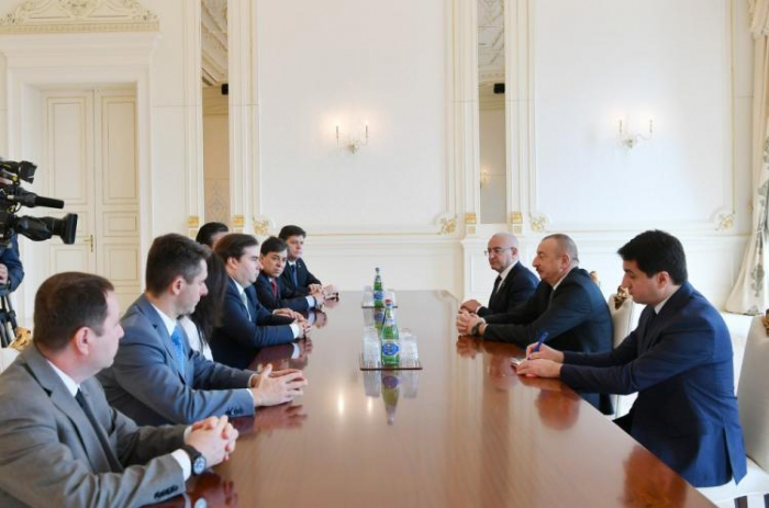 Azerbaijani president receives officials from Brazil