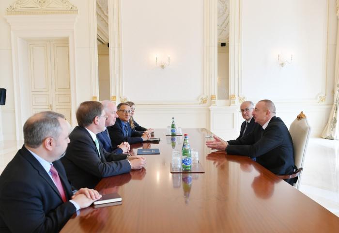 Azerbaijani president receives US delegation - UPDATED