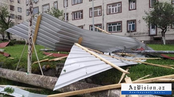 Güclü külək və yağışın Zaqatalaya vurduğu ziyan açıqlandı