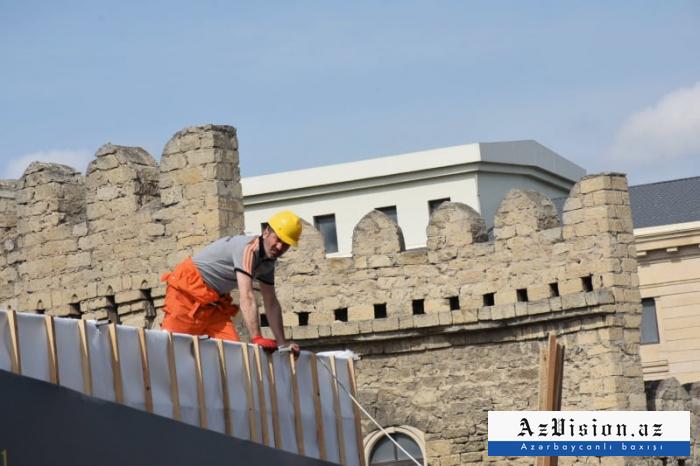 Qoşa Qala qapılarının yeni görüntüləri - FOTOLAR