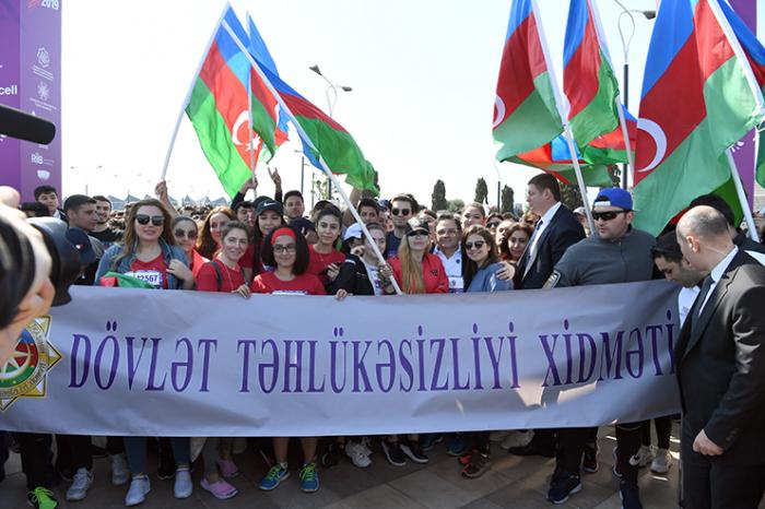 DTX əməkdaşları Bakı Marafonunda iştirak ediblər - FOTOLAR