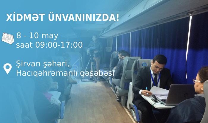 Səyyar qeydiyyat xidmətləri Şirvanda