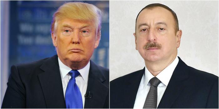 """Trampdan İlham Əliyevə məktub: """"Bütün addımları alqışlayırıq"""""""