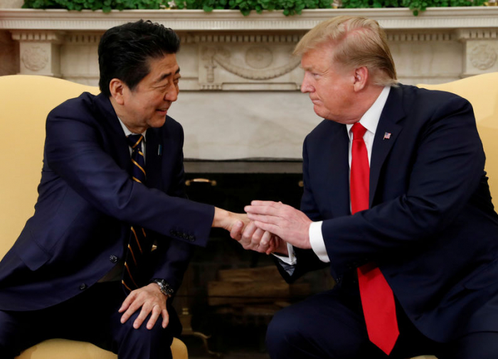 Trump discusses North Korea with Japan