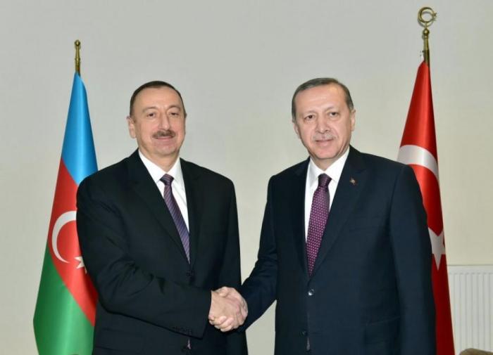 Turkish President Erdogan congratulates Azerbaijani President Ilham Aliyev