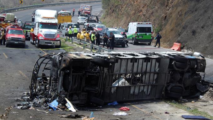 Mexique:   au moins 21 morts dans un accident d