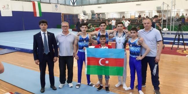 Azerbaijani gymnasts won six medals in Budapest