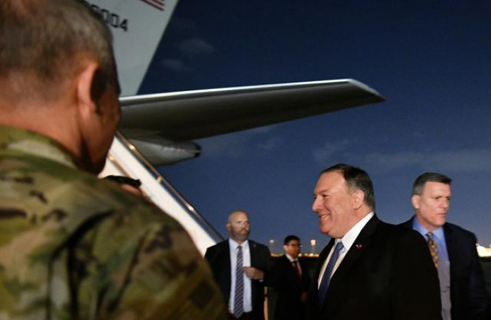 Pompeo visits Baghdad, warns of Iranian activity