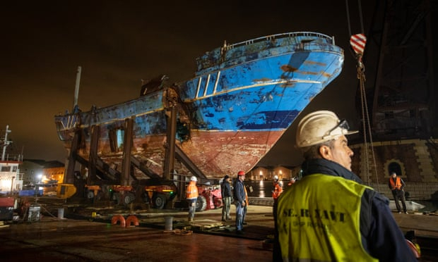 Boat in which hundreds of migrants died displayed at Venice Biennale