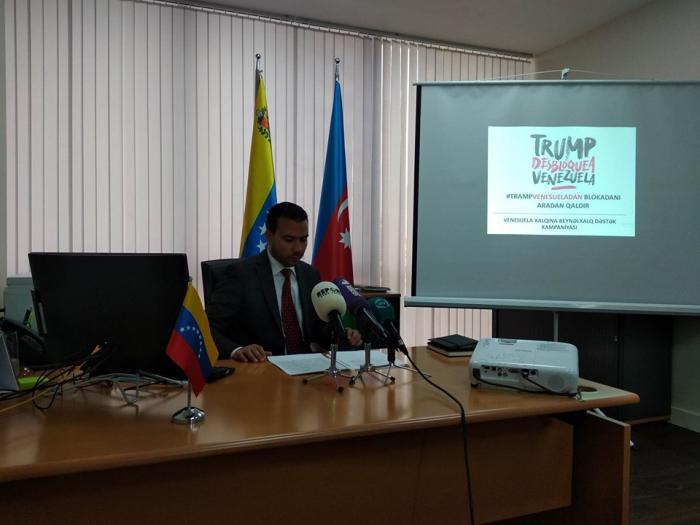 """Embajador de Venezuela en Azerbaiyán sobre la campaña de apoyo internacional  """"Trump, desbloquea Venezuela"""""""