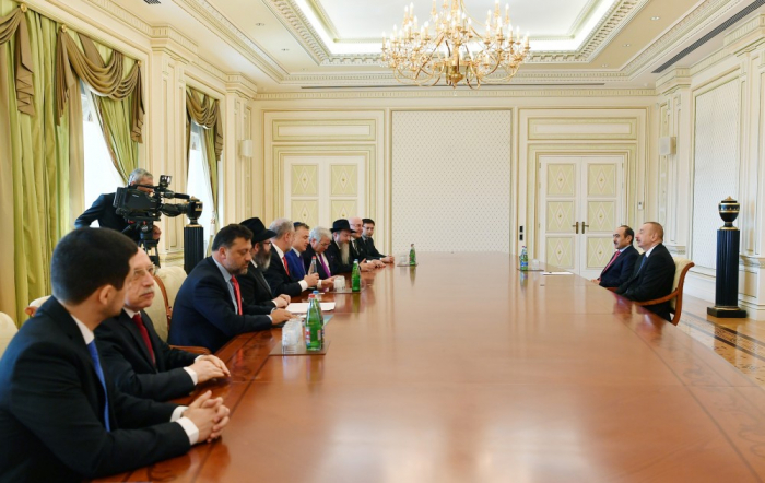 President Ilham Aliyev received delegation led by president of Euro-Asian Jewish Congress -   URGENT