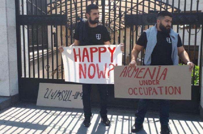 İrəvanda Avropa İttifaqına qarşı etiraz aksiyası - VİDEO