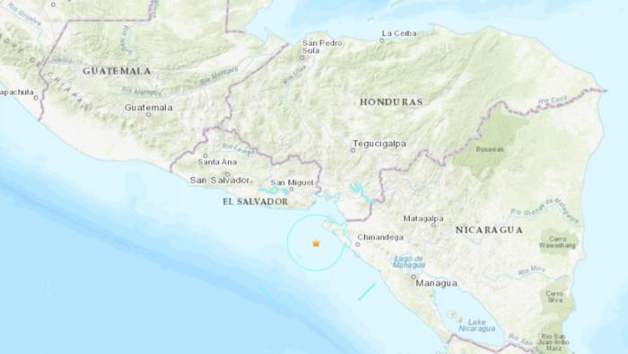Se registra un sismo de magnitud 5,9 en El Salvador sentido en Nicaragua y Guatemala