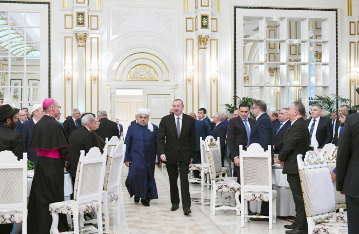 President Ilham Aliyev attended Iftar ceremony on the occasion of holy month of Ramadan