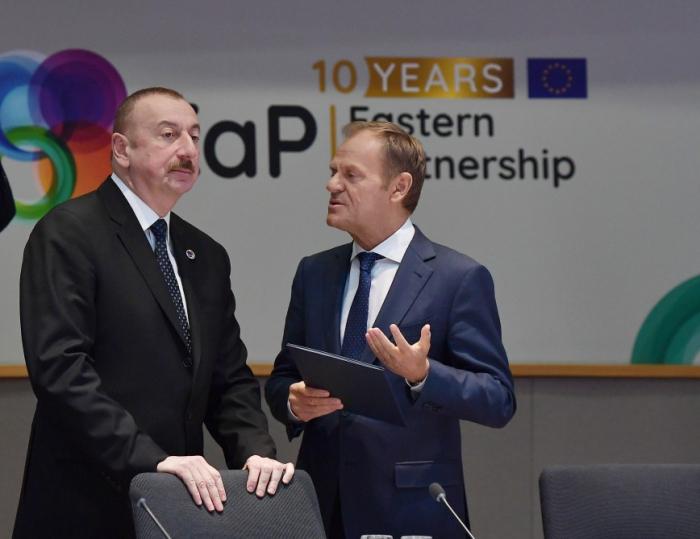 """""""La UE es el principal socio comercial de Azerbaiyán""""-  Ilham Aliyev"""