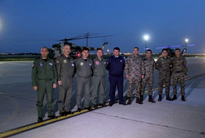 المروحيات العسكرية الأذربيجانية في تركيا