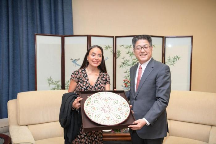 Leyla Əliyeva Çində nazir müavini ilə görüşüb - FOTO