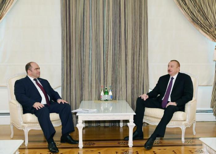 Presidente recibe a Ígor Lyáshenko