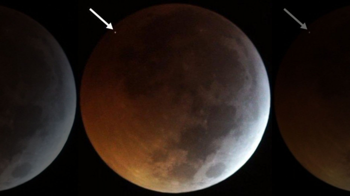 During the last lunar eclipse, a meteor smacked the Moon in the face at 38,000 Mph