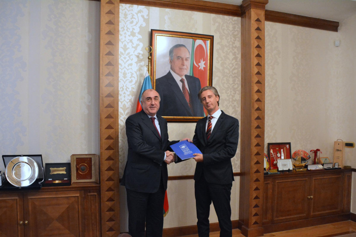 Mammadyarov  receives newly appointed UNDP Resident Representative for Azerbaijan