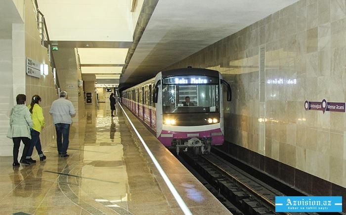 Bakı metrosunda yeni sərinkeşlər quraşdırılır