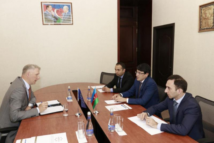 Head of the EU Delegation to Azerbaijan visitsState Committee on Work with Diaspora