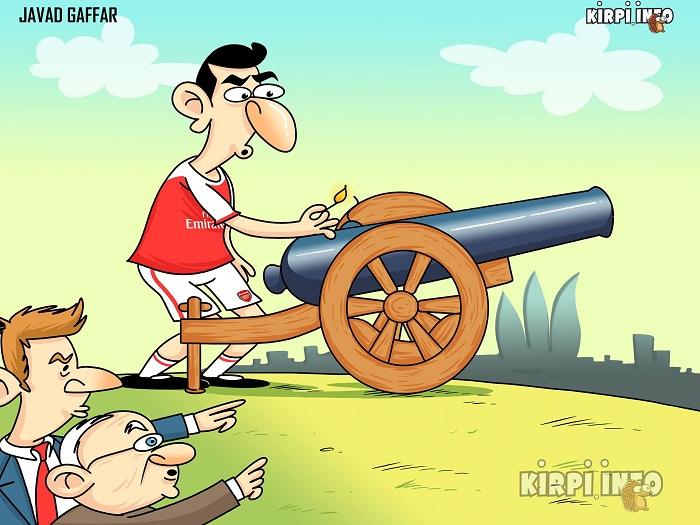 """Erməninin """"kanonirlik"""" anlayışı - Karikatura"""