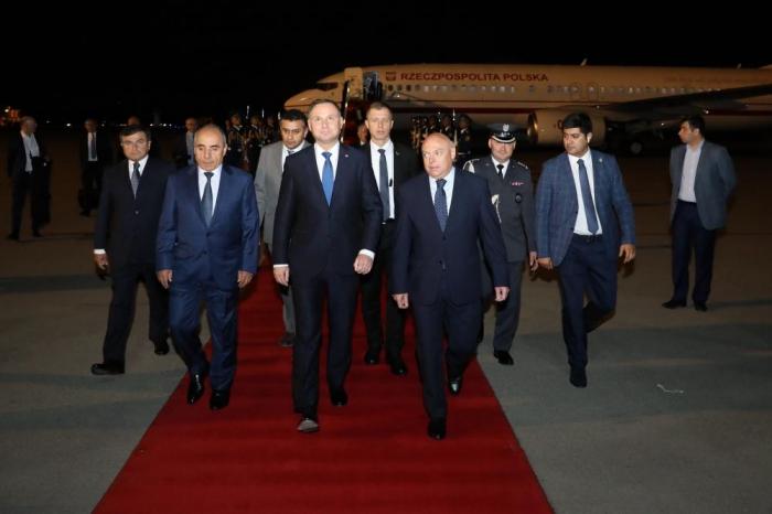 Poland's president arrives in Azerbaijan on official visit