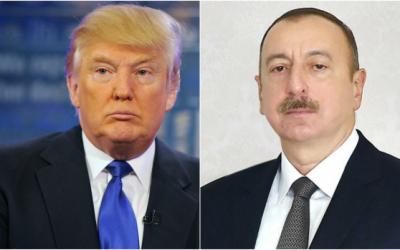 دونالد ترامب يهنئ الرئيس الأذربيجاني
