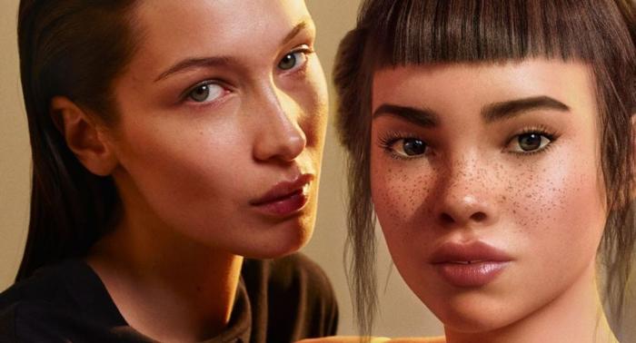 Calvin Klein se disculpa por el beso de Bella Hadid y un robot