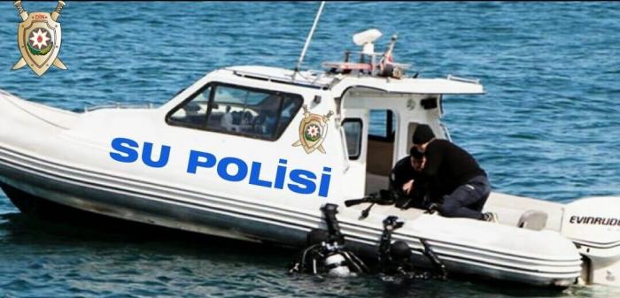 Su Polisi qanunsuz balıq ovlayan şəxsi yaxalayıb