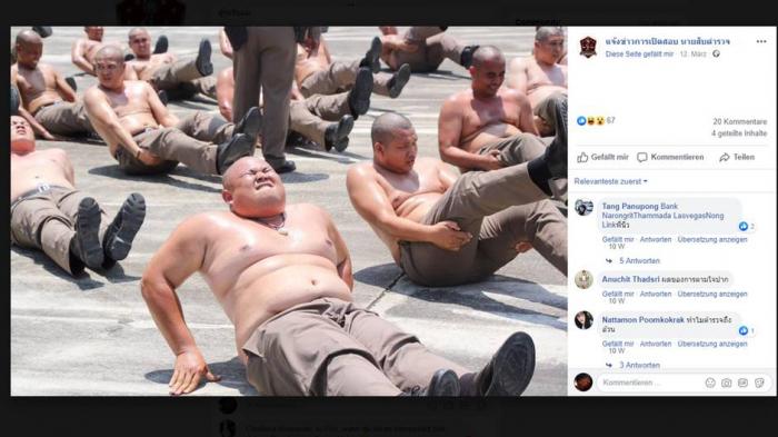 Thailand schickt übergewichtige Polizisten ins gnadenlose Training