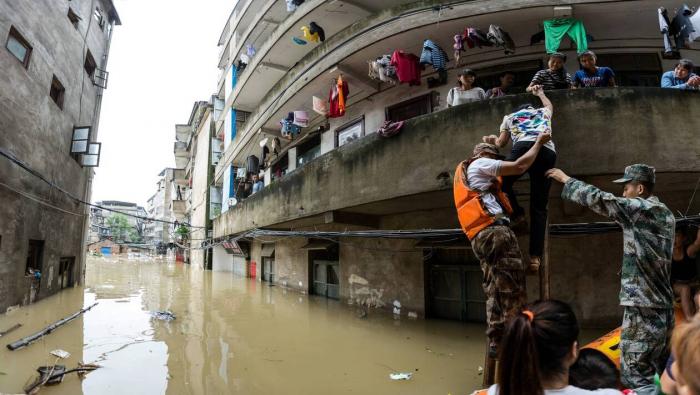Inondations dans plusieurs régions de Chine,   61 morts