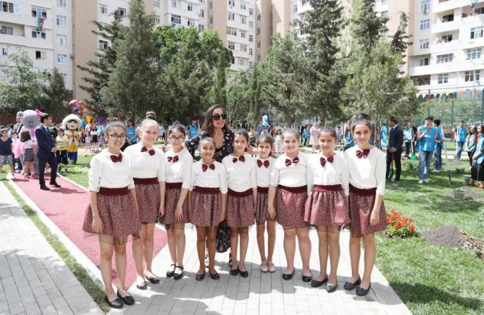 """Heydar Aliyev Foundation VP Leyla Aliyeva attends event within """"Bizim həyət"""" project -   PHOTOS"""