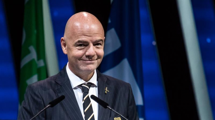 Infantino re-elected FIFA president for four-year term