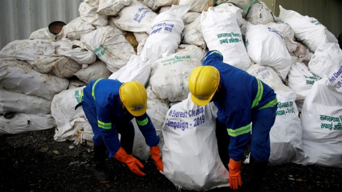Four bodies, 11 tonnes of rubbish collected in Everest clean-up