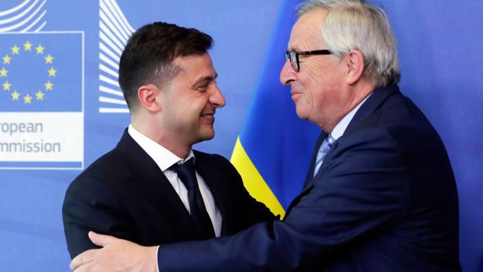 Ukraine's president Volodymyr Zelensky reassures European backers
