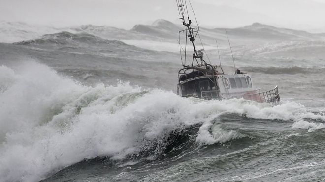 Storm Miguel kills three after overturning rescue ship off French coast