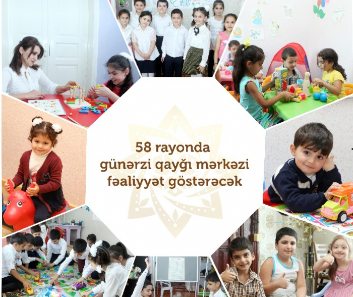 Se prevé crear los Centros de Cuidado Infantil Diario en 58 regiones de Azerbaiyán