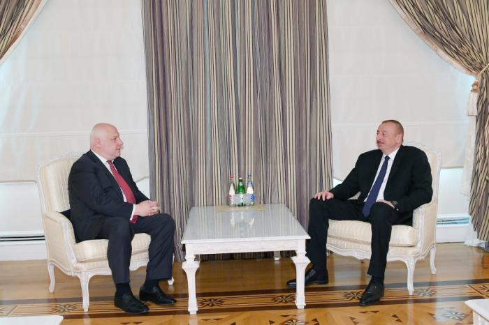 Ilham Aliyev receives OSCE PA PresidentTsereteli