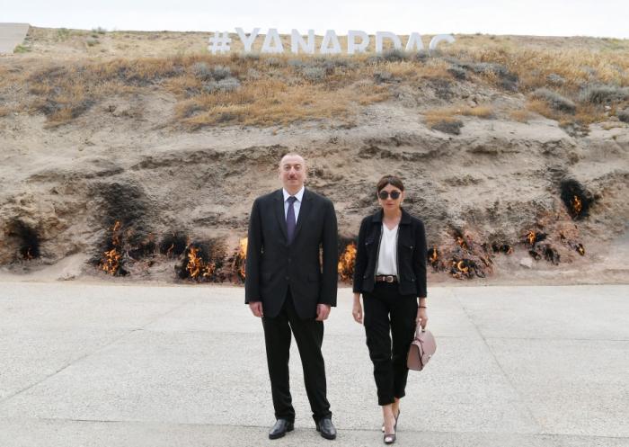 """Prezident birinci xanımla """"Yanardağ"""" qoruğunda - FOTOLAR (Yenilənib)"""