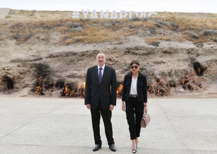 Ilham Aliyev participe à l'inauguration de la Réserve historico-culturelle « Yanardag »