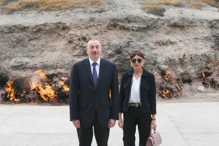 Staatspräsident Ilham Aliyev besucht Naturschutzgebiet Yanardag -FOTOS