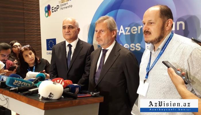 """Johannes Hahn:  """"Die EU und Aserbaidschan verhandeln über die Prioritäten für die nächsten 10 Jahre"""""""