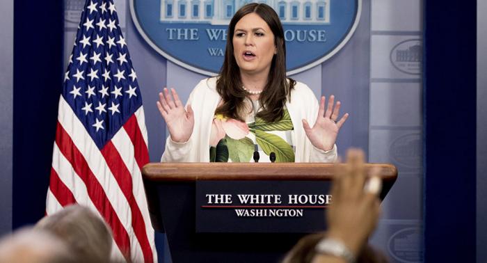 Trump:     Sarah Sanders, la portavoz de la Casa Blanca, dejará el cargo a fin de mes