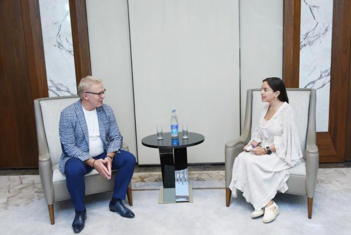 VP of H.Aliyev Foundation Leyla Aliyeva meets with UN Goodwill Ambassador Vyacheslav Fetisov