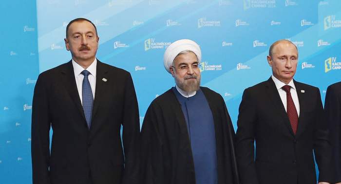 Treffen der aserbaidschanischen, russischen und iranischen Präsidenten in Sotschi