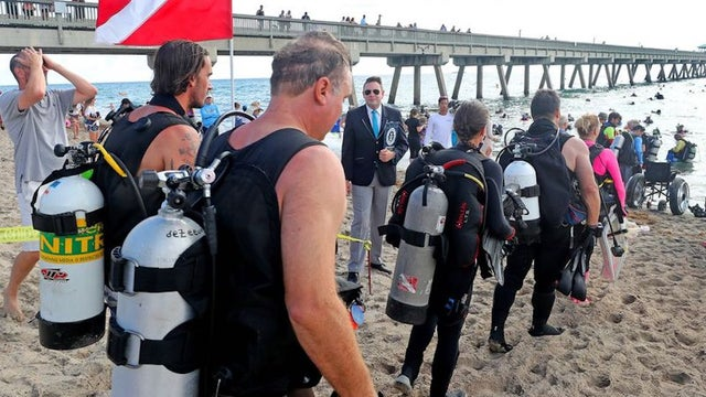 Over 600 divers set world record cleaning up debris from ocean floor