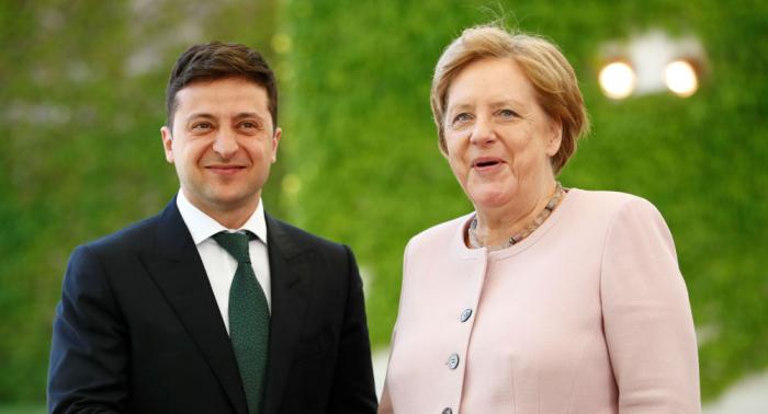 Merkel und Selenski in Berlin: Gemeinsame Presseerklärung